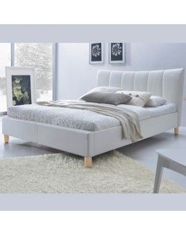 Lit Design Simili Cuir Blanc 160 X 200 San