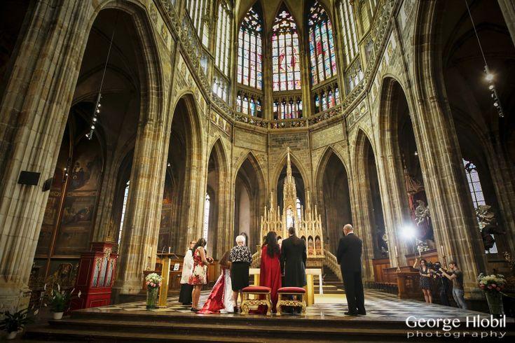 Wedding in Prague - St.Vitus Cathedral wedding ceremony - Prague Castle wedding - Wedding photos Prague, view more at www.georgehlobil.com #wedding #praguewedding #churchwedding #stvituscathedral #destinationwedding #pragueweddingvenues #elopementwedding #praguecastle #gettingmarried #weddingphotos