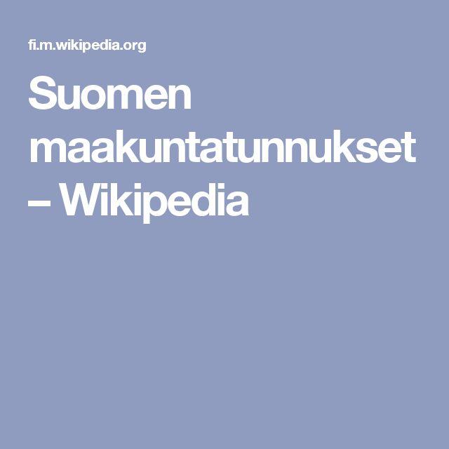 Suomen maakuntatunnukset – Wikipedia