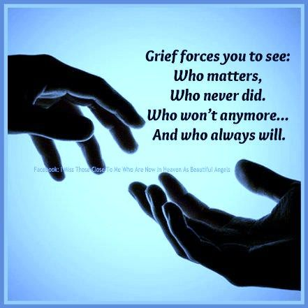 Grief rearranges priorities. That is something that happened immediately.