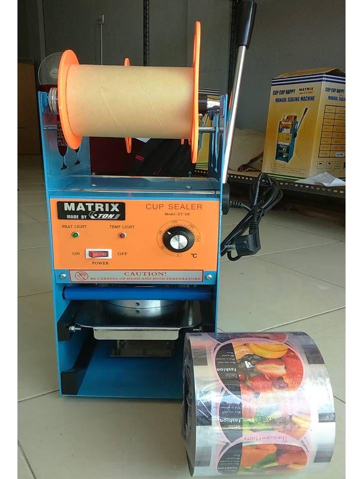 Mesin Cup Sealer adalah mesin yang digunakan untuk press gelas plastik. Mesin ini cocok bagi anda yang membuka usaha minuman yang menggunakan cup/ gelas plastik. Denghan hasil press yang rapi dan rapat akan membuat kemasan minuman anda dapat menarik minat pelanggan. Spesifikasi :      Power                   : 400 W     Daya                     : 220 V/ 50 Hz     Kecepatan seal   : 400 – 500 cup/ jam     Dimensi               : 45 x 36 x 69 cm     Mesin                   : 15 kg
