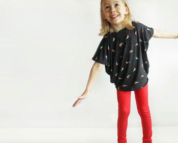 Toddler Simple TUNIC pattern - Reversible top pattern pdf - girls sewing patterns - 2T to 10 years