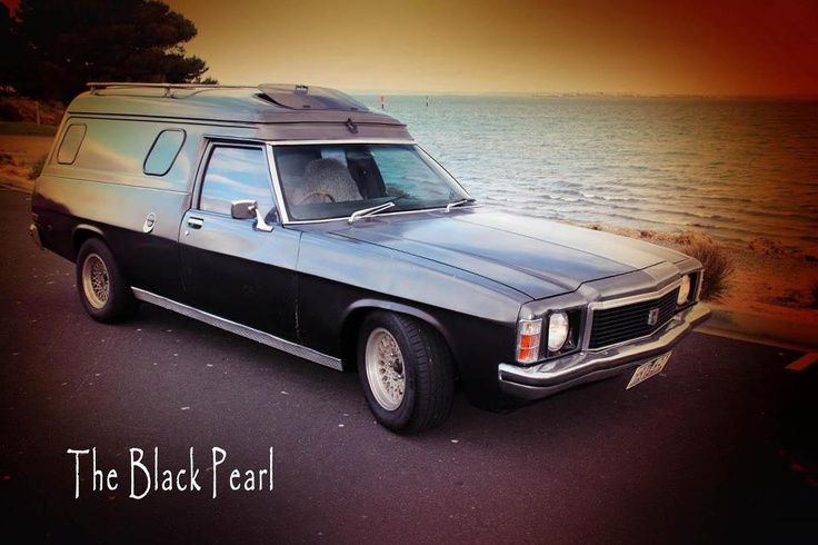 My 1978 HZ Holden Panelvan, or 'The Black Pearl' as I like to call it.