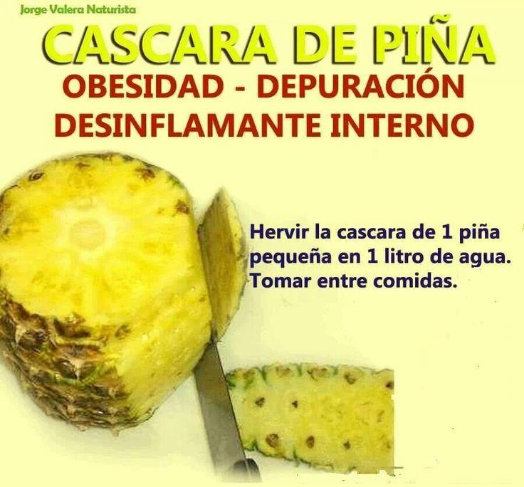 Cascara de pina para la obesidad depuracion y desinflamatorio interno