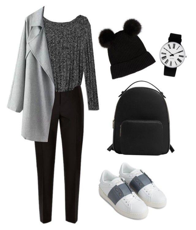 """School outfit 🎒"" by alejandra-vega-1 on Polyvore featuring moda, Jaeger, Gap, Valentino, MANGO y Rosendahl"