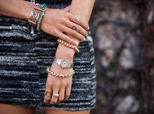 stacked bracelets | Tumblr