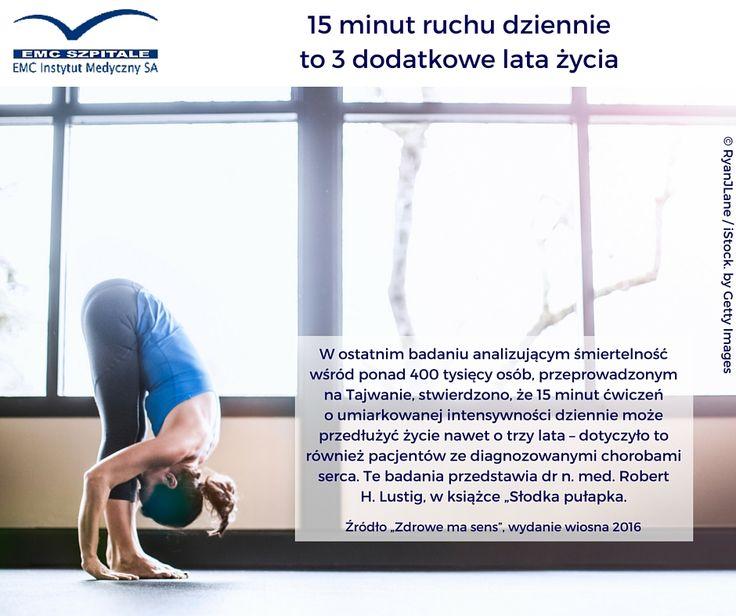 wg badań naukowych 15 minut ruchu dziennie to dodatkowe 3 lata życia :) #emc #emcszpitale