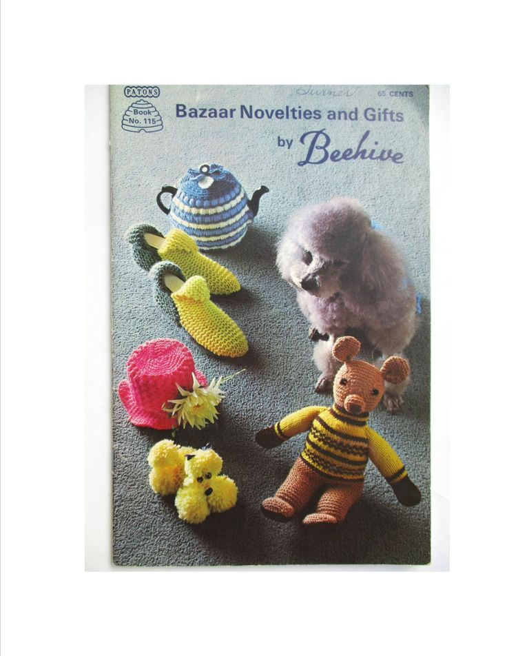 Beehive Bazaar Novelties and Gifts Book 115, Knit Crochet Patterns, Knit Dog Coat, Slippers, Crochet Knit Tea Cosies, Toilet Tissue Covers by RuthsGreenTreasures on Etsy