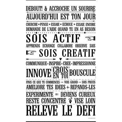 Affiche adhésive Relève le défi (noire ou blanche) - Mes Mots Déco - Acheter sur Les Petits Frenchies