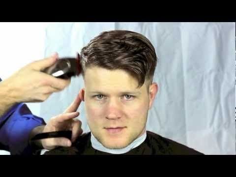 This video shows how to cut a short men's pompadour haircut (referred to as an aggressive pompadour).  These tips can also be used to create a tight tapered haircut or a classic taper.  This haircut was performed by David Alexander, owner of Haircutsformen.org and co-owner of American Haircuts of Atlanta, Georgia.  This haircut was performed usi...