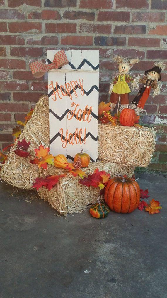 Happy Fall Yall/ Fall Decor/ Fall Pallet Decor/ by ThePinkBarnFam