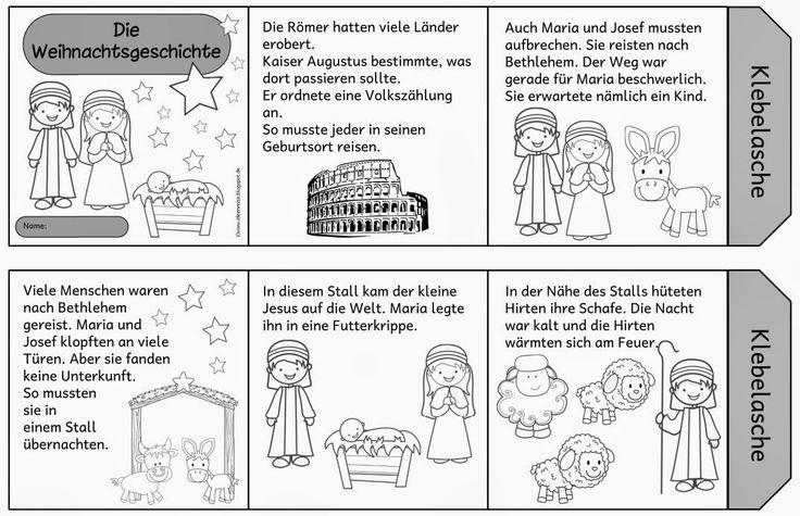 Kleines Leporello zur Weihnachtsgeschichte  Mit diesem kleinen Leporello  kann man die Weihnachtsgeschichte vor Ferienbeginn besprechen. M...