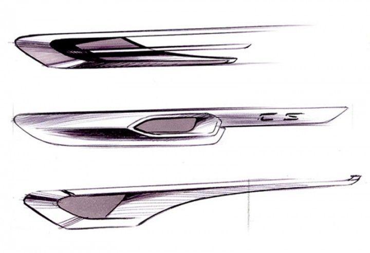 BMW Gran Coupe Concept Design Sketches.