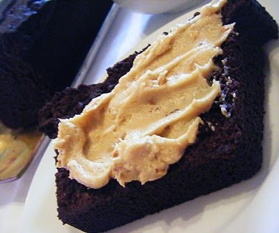 Double Chocolate Loaf With Peanut Butter Cream Cheese Spread Recipe