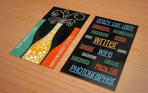 Genie Alisa via http://ow.ly/b60We #businesscards