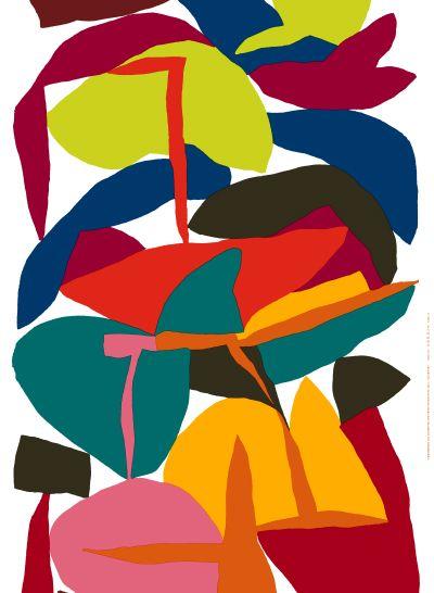 """mirellabruno:  Erkki Ilmari ToukolehtoPattern design for Marimekko""""Välikausi"""" Spring 2015 Home.http://cargocollective.com/erkki/Marimekko"""