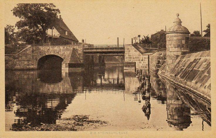 Śluza Kamienna (Steinschleuse), Gdańsk - 1907 rok, stare zdjęcia