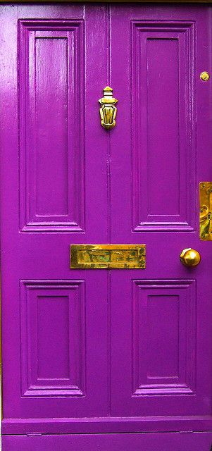 wow, that is a purple door