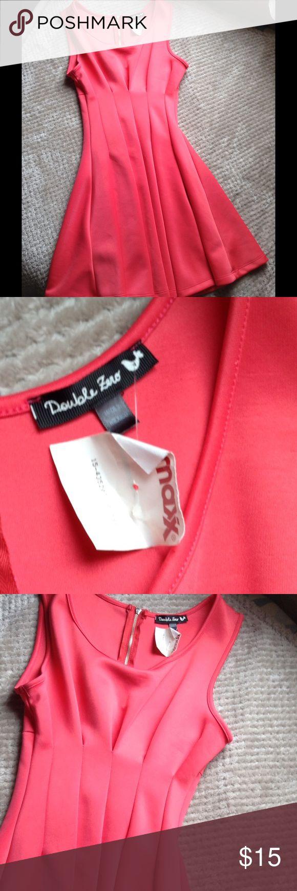 Brand New Bright Coral/Pink Dress Size Small Brand New TJ Max Bright Coral/Pink Dress Size Small tj max Dresses Mini