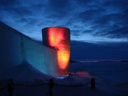 Lumilinna Snow Castle, rebuilt every winter ~ Kemi, Finland