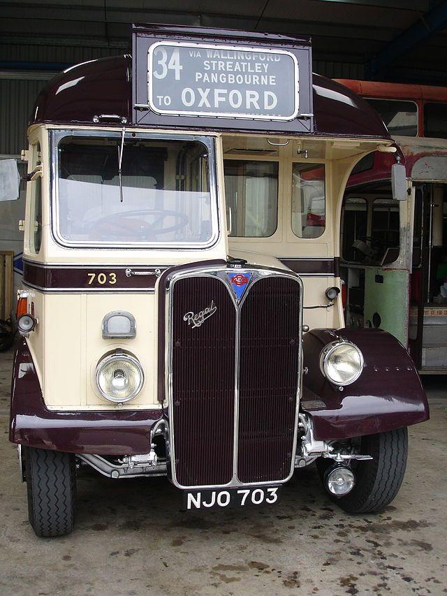 A Vintage AEC Bus at the Oxford Bus Museum, Long Hanborough.