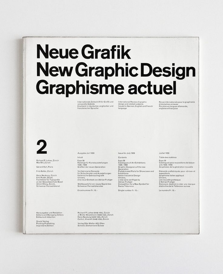 Neue Grafik, New Graphic Design, Graphisme actuel _ No. 2, July 1959