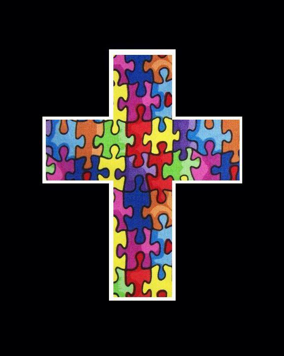 puzzle piece cross   Autism Awareness   Autism awareness ...