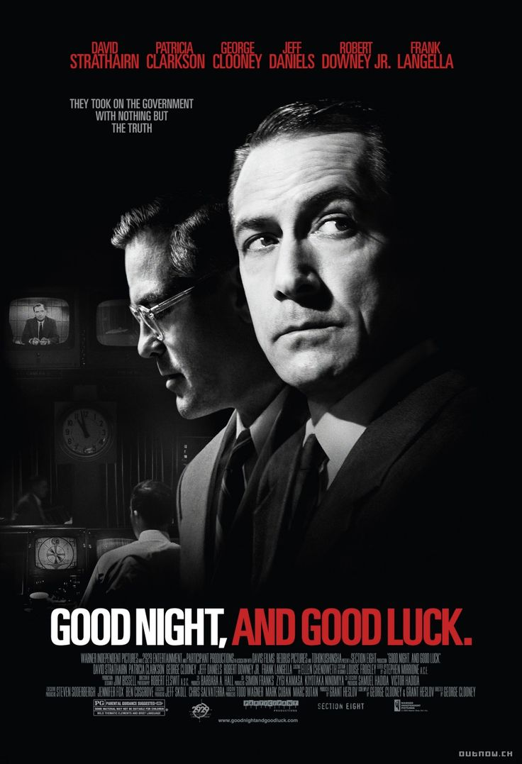 Good Night, and Good Luck (2005 feature film) - Broadcast journalist Edward R. Murrow takes on Senator Joseph McCarthy.