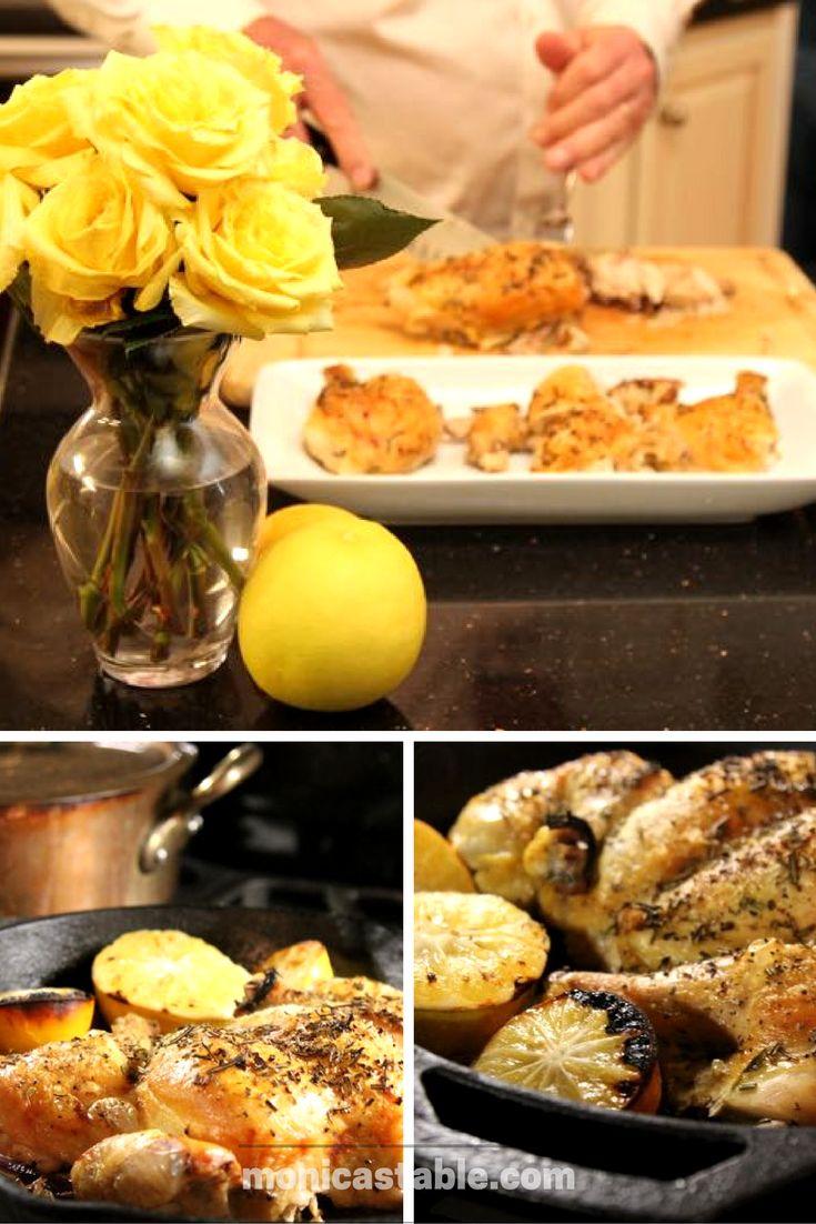 Lemon and Rosemary Roasted Chicken. monicastable.com