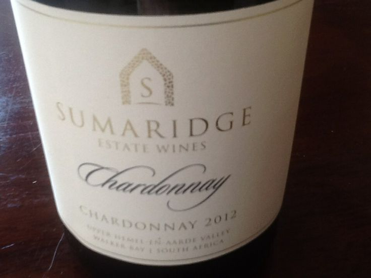 Sumaridge Chardonnay 2012 has just been released.  A TOP100 wine and IWC winner. Upper Hemel-en-Aarde grapes used to produce this beauty.