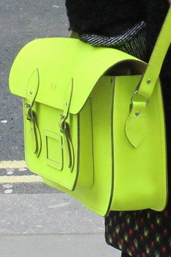 We heart this nifty neon bag from The Cambridge Satchel Company! It's all about the colour pop!