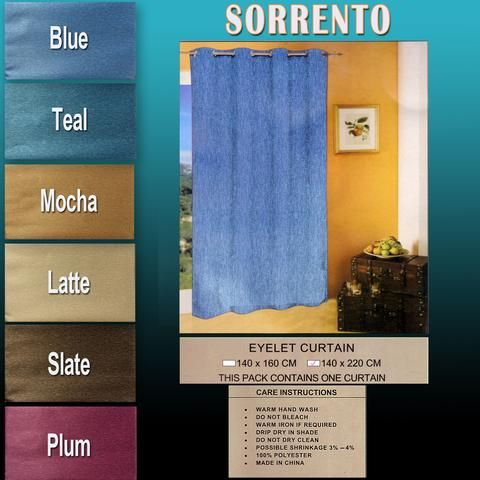 Sorrento Curtains Triple Weave Blockout Type 160cm or 220cm Double