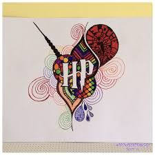 Image result for harry potter zentangle