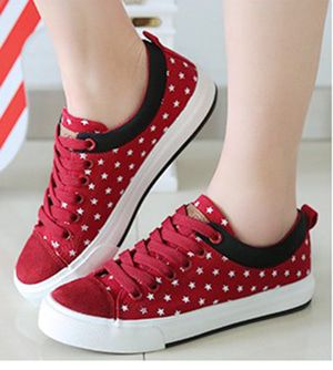Sepatu Kets Wanita Casual Merah Sds122 Sepatu Kets Wanita