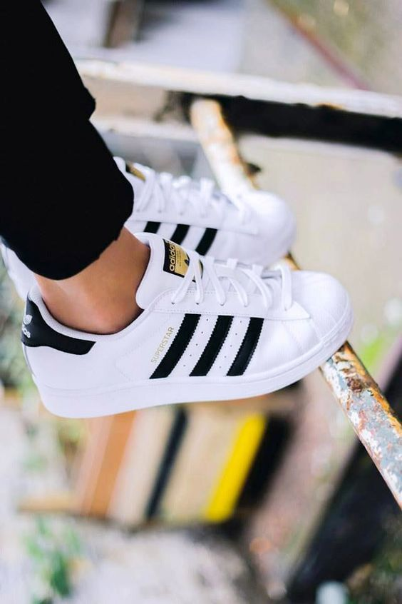 Original Adidas Superstar Sneaker Throwback Superstar sneakers from adidas  Originals in full-grain leather with cotton laces and rubber shell toes for  ...