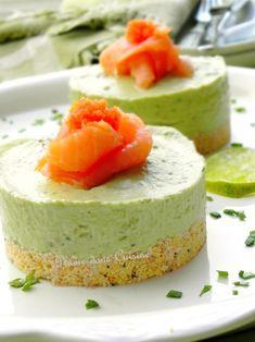 Cheesecakes à l'avocat et au saumon   Une Plume dans la Cuisine