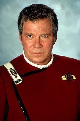 Captain James T. Kirk portrayed by veteran Canadian actor, William Shatner.