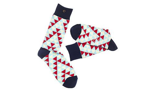 The Bailey Blue, Red & Beige Men's Socks #socks #menswear #fashion #style #dapper
