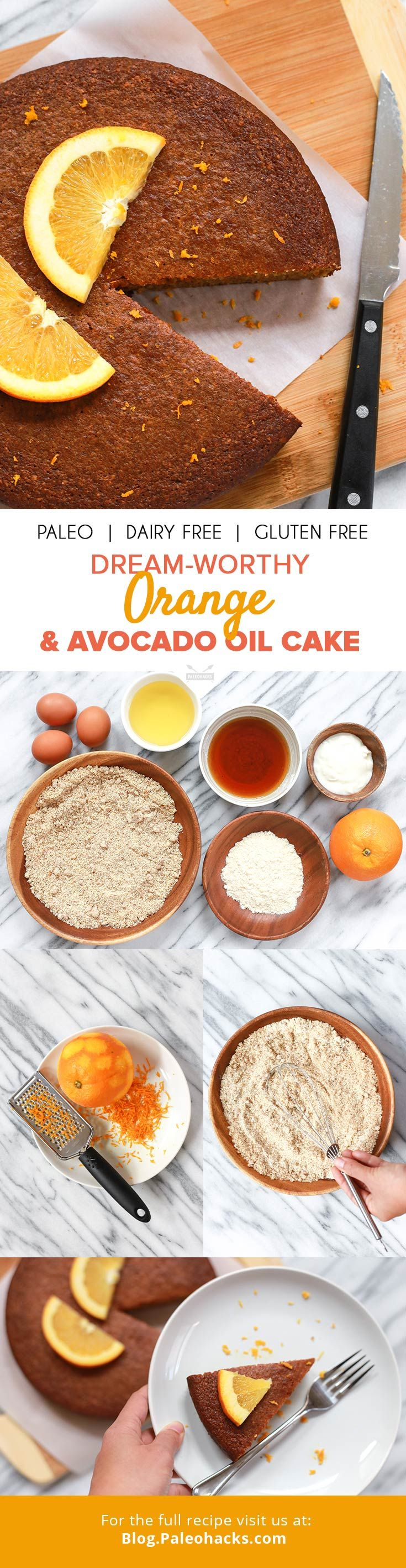 A slice of this delicately sweet orange and avocado oil cake goes perfectly with a hot cup of tea for an afternoon pick-me-up! Get the full recipe here: http://paleo.co/avooilcake