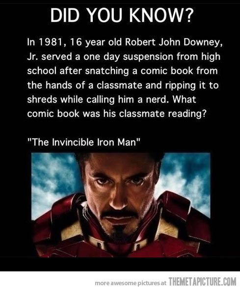 The Invincible Iron Man…