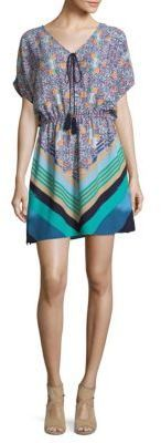 Laundry by Shelli Segal Tropical Printed Mini Dress