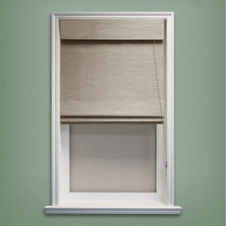 Chicology Inc. Chicology Roman Shade Jute Fabric Privacy Nevada Timberwolf Grey (48-inch x 72-inch )