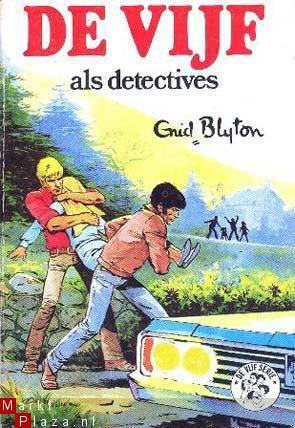 Enid Blyton - 'De vijf als detectives' Serie waarin vier kinderen en een hond tal van avonturen beleven. Jeugd