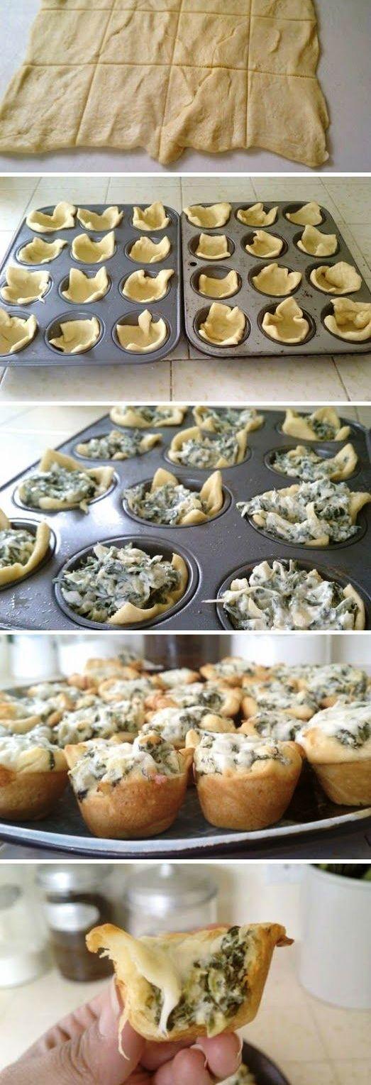 Baskets of pastry dough stuffed with spinach and cheese bechamel Cestitas de pasta quebrada rellenas de bechamel con espinacas y queso Subido de Pinterest. http://www.isladelecturas.es/index.php/noticias/libros/835-las-aventuras-de-indiana-juana-de-jaime-fuster A la venta en AMAZON. Feliz lectura.