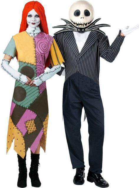 sally and jack skellington couples costumes horror costumes couples costumes couples group costumes halloween costumes categories party city - Halloween Jack Costume