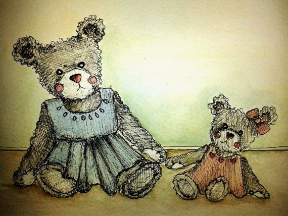 Forever In my Heart by MyPaintedBear on Etsy, £25.00
