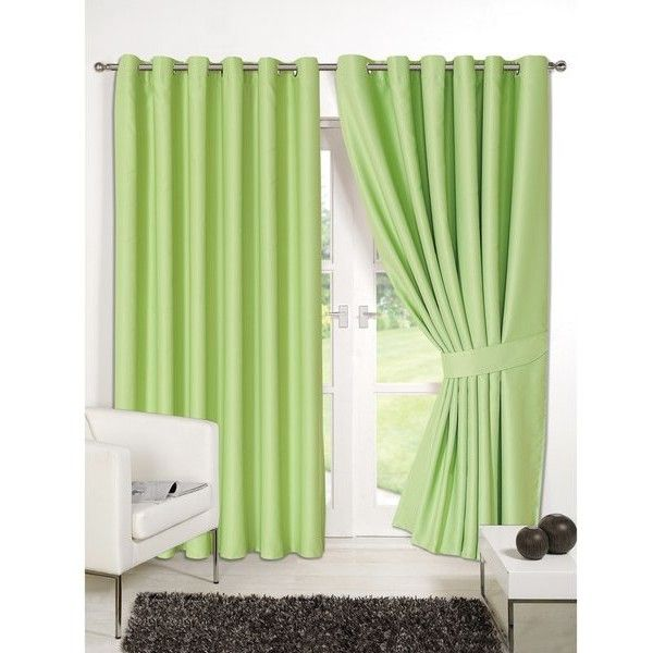 Dreamscene Blackout Eyelet Curtains - Sage (58 BAM) ❤ liked on Polyvore featuring home, home decor, window treatments, curtains, green, eyelet curtains, sage curtains, lining curtains, black out window treatments and woven curtains