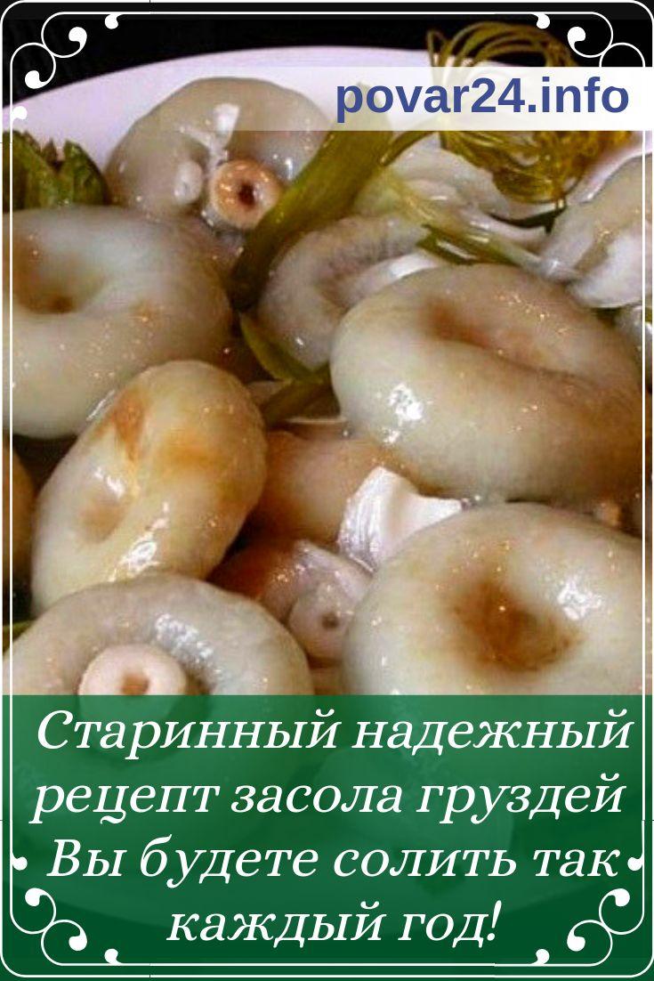 Как солить грузди рецепт с фото пошагово