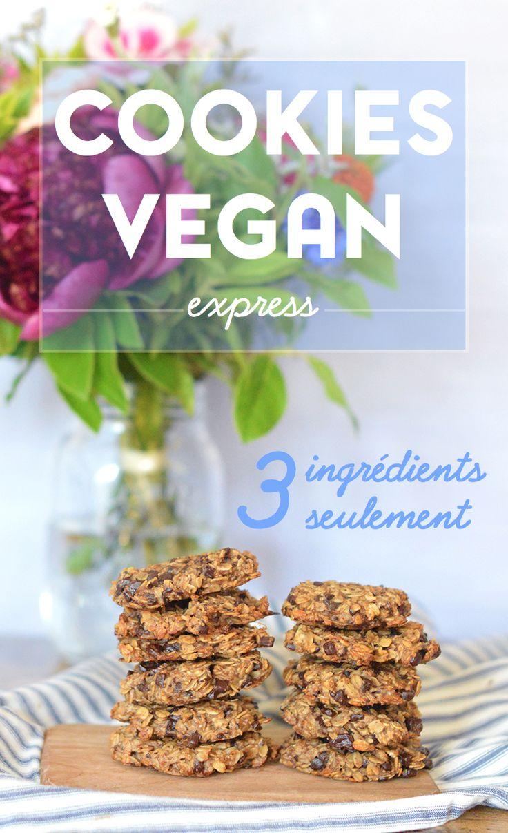 Plus rien dans le placard et besoin de cookies express ? J'ai la recette qu'il vous faut : seulement 3 ingrédients pour des cookies vegan, healthy et très peu caloriques ! www.sweetandsour.fr