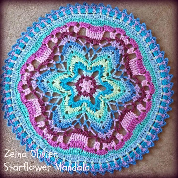 mandala- free pattern http://zootyowlcards.blogspot.co.uk/2014/04/starflower-mandala-pattern.html